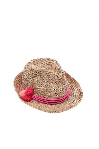 Chapeau jaune TRACY WATTS pour femme