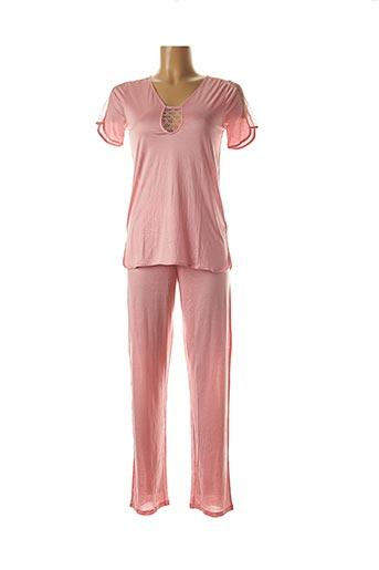 Pyjama rose LAURENCE TAVERNIER pour femme
