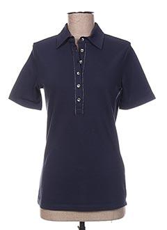 Polo manches longues bleu BASLER pour femme
