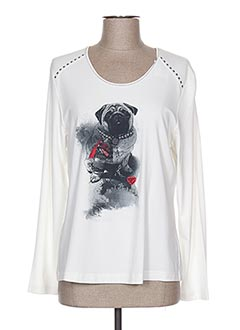 T-shirt manches longues blanc RABE pour femme