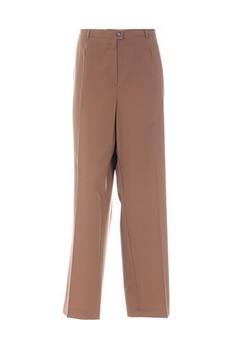 Pantalon chic marron BASLER pour femme