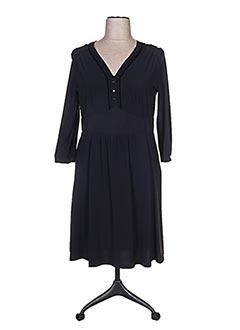 Robe mi-longue noir ATIKA pour femme