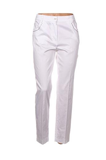 Pantalon casual blanc CHASSAGNARD pour femme