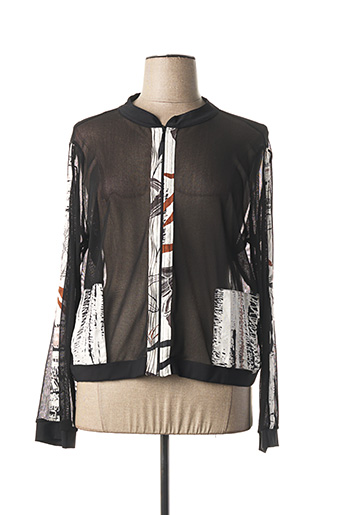 Veste casual noir MALOKA pour femme
