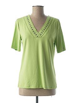 T-shirt manches courtes vert BRANDTEX pour femme