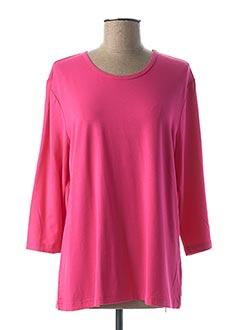 T-shirt manches longues rose BRANDTEX pour femme