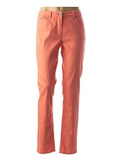 Pantalon casual orange BRANDTEX pour femme