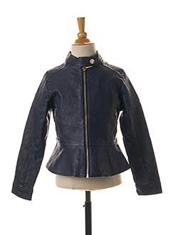Veste simili cuir bleu MAYORAL pour fille