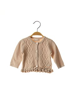 Gilet manches longues beige MAYORAL pour fille