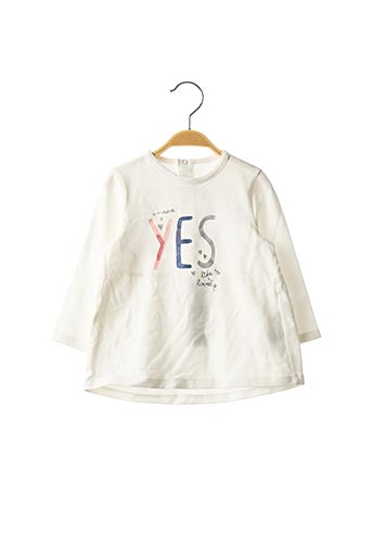 T-shirt manches longues beige ORIGINAL MARINES pour fille