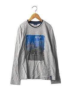 T-shirt manches longues gris ORIGINAL MARINES pour garçon