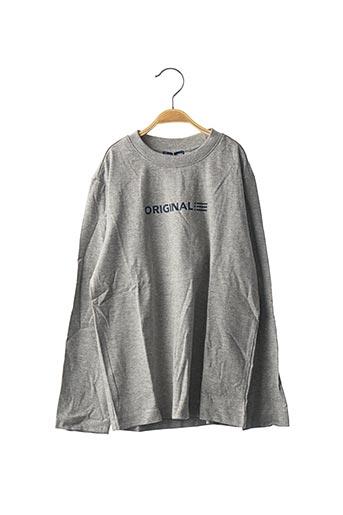 T-shirt manches longues gris ORIGINAL MARINES pour enfant