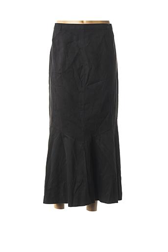 Jupe longue noir HUCKE WOMAN pour femme