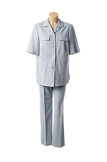 Veste/pantalon bleu LISA CHESNAY pour femme