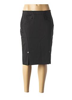 Jupe mi-longue noir BUGARRI pour femme