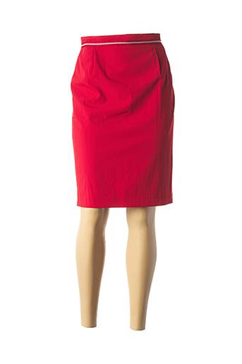 Jupe mi-longue rouge HAMMER pour femme