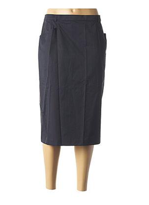Jupe mi-longue bleu FE EDITION pour femme