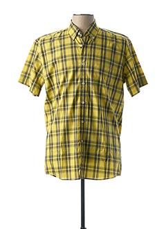 Chemise manches courtes jaune PIERRE CLARENCE pour homme