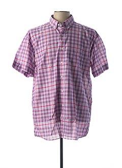 Chemise manches courtes violet PIERRE CLARENCE pour homme