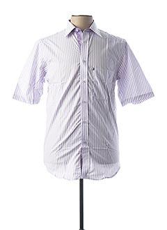 Chemise manches courtes violet PLAYBOY pour homme