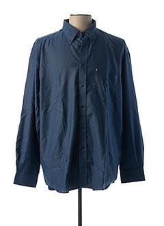 Chemise manches longues bleu PLAYBOY pour homme
