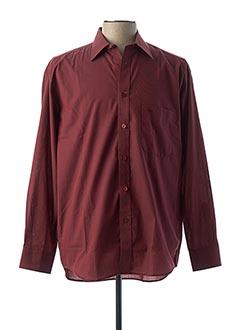 Chemise manches longues rouge CAMBRIDGE pour homme