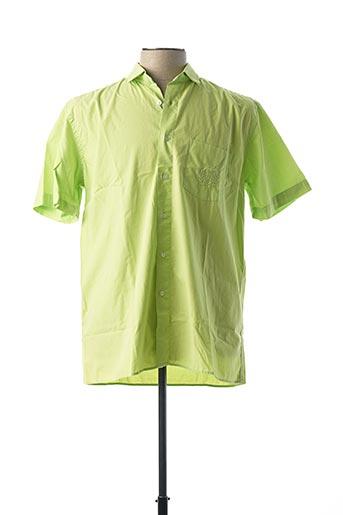 Chemise manches courtes vert HORIZON pour homme