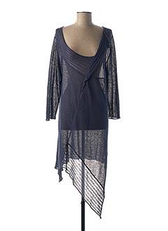 Pull tunique bleu KOKOMARINA pour femme
