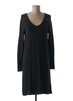 Robe mi-longue noir EQUATION pour femme