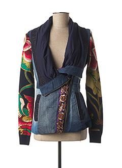 Veste casual bleu DESIGUAL pour femme