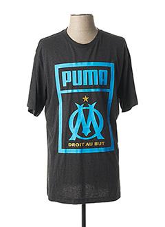 T-shirt manches courtes gris PUMA pour homme