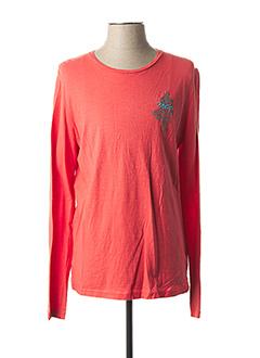 T-shirt manches longues orange MCS pour homme