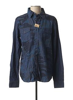 Chemise manches longues bleu REDSKINS pour homme