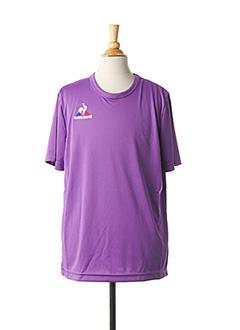 T-shirt manches courtes violet LE COQ SPORTIF pour enfant