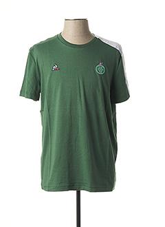 T-shirt manches courtes vert LE COQ SPORTIF pour homme