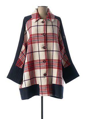 Manteau court rouge POUPEE CHIC pour femme