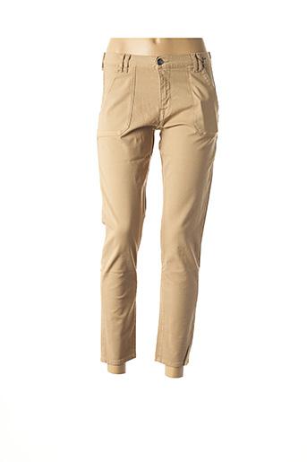 Pantalon 7/8 beige EMMA & CARO pour femme