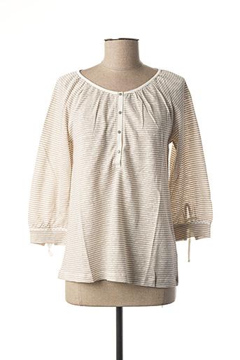 T-shirt manches longues beige LE PETIT BAIGNEUR pour femme