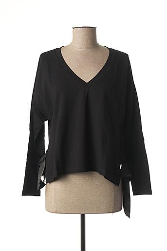 T-shirt manches longues noir LE PETIT BAIGNEUR pour femme