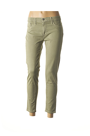 Pantalon 7/8 vert DESGASTE pour femme