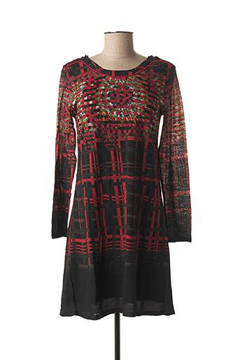 Robe courte rouge AVENTURES DES TOILES pour femme