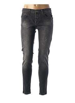 Jeans coupe slim gris RINASCIMENTO pour femme