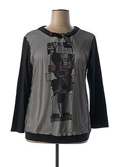 Sweat-shirt noir LE COMTE pour femme
