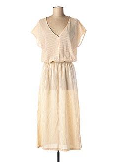 Robe longue beige DES PETITS HAUTS pour femme