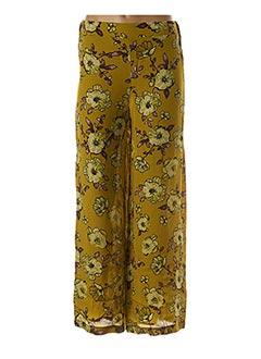 Pantalon chic vert BLANC BOHEME pour femme