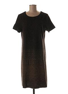Robe mi-longue marron BLANC BOHEME pour femme