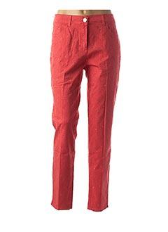 Pantalon casual rouge EAST DRIVE pour femme