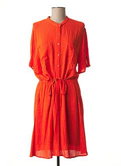 Robe mi-longue orange VILA pour femme