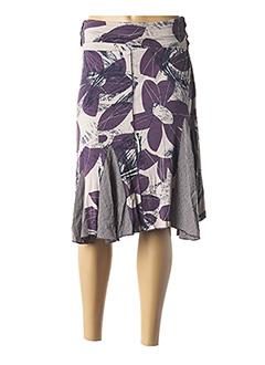 Jupe mi-longue violet MULTIPLES pour femme