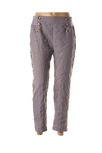 Pantalon 7/8 gris MULTIPLES pour femme
